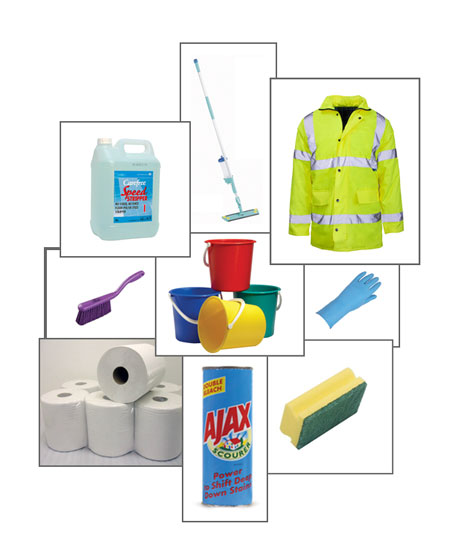 cleaning product supplies