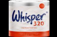 Whisper 320 Toilet Rolls