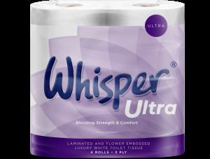 Whisper Ultra 3ply Toilet Rolls